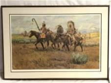 Signed Joe Beeler(1931-2006)Lithograph - Plate 1 #159 /