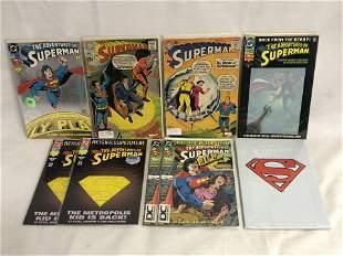 (9)Asst Superman ComicBooks - Silver Era & New - 1958