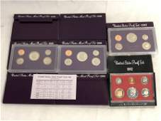 (8)United States Coin Proof Sets - 1982, 1987, (3)1989