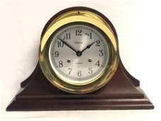 Chelsea Shipstrike Brass Clock - Fits in Wooden Base,