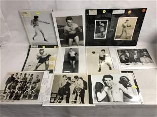 Vtg Autographed Boxing Photos, Photos - Autographs by