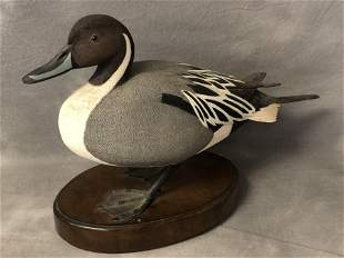 Signed,HandCarved Wooden Duck by Al Noran - Signed by