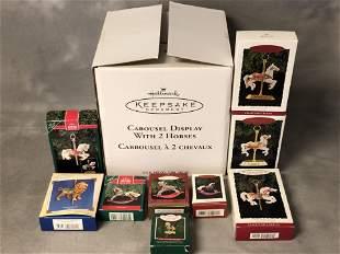 Hallmark Ornaments & Carousel Display - Carousel Horse