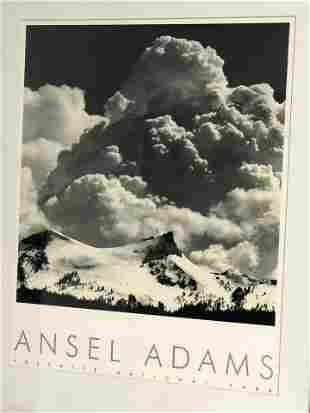 Ansel Adams Yosemite Watermark Print - Framed 21'' x