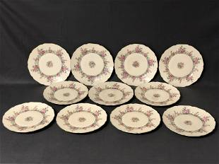 (10)Royal Windsor Czech Plates, 10'' Diameter - Windsor