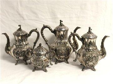 Victorian Roswell Gleason & Sons Tea Set - Circa 1862,