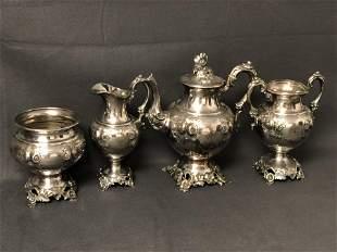 Antique Silverplate Creamer,Teapot & More - Creamer/