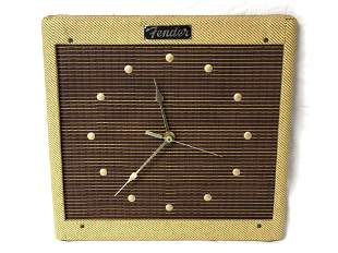 1980s Original Fender Tweed Clock, w/ Box - Sam Hutton