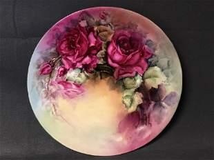B&C Limoges Signed Platter, 13.5'' x 1.75'' - Singed