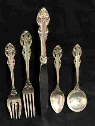 Sterling Reed & Barton 'El Greco' 5pc Set - 191g (Not