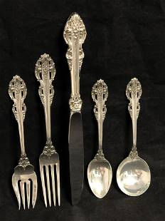 Sterling Reed & Barton 'El Greco' 5pc Set - 193g (Not