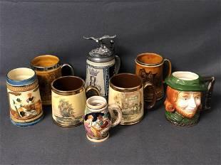 (8)Asst Steins, Mugs from Various Makers -