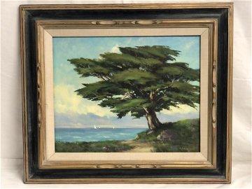 Calif Art 'M.Randalph' Oil of West Cliff - Oil on