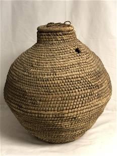 Vtg Snake Charmers Coil Basket - Approx 66'' Diameter x