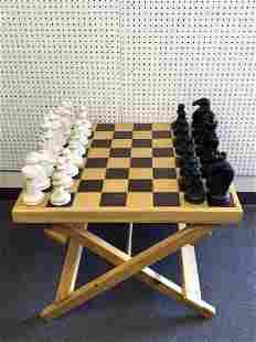 Large Folding Table Chess Set - 30.5'' x 30.5'' x 23''