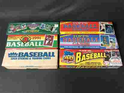 (6)Complete Sets Baseball Trading Cards - Topps
