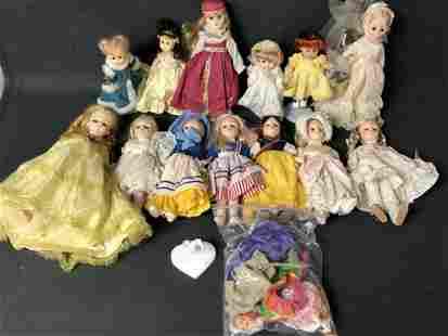 Lot Effanbee, Giny Dolls + Clothes - (13)Asst Dolls