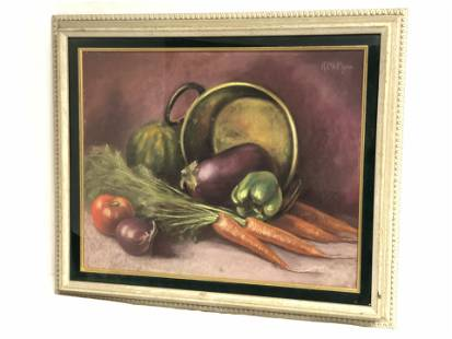 Signed Pastel Still Life 'McPhee' - Framed 24.5'' x