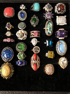(30)Asst Fashion Rings w/ Various Styles - Sz 7 / 8 ,