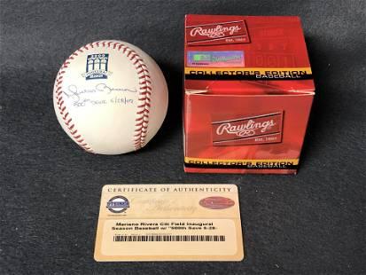Signed Mariano Rivera 500th Save Baseball,COA - Signed