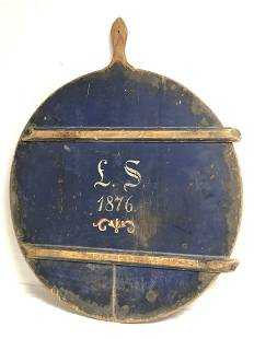 Early American 1876 Centennial Bread Board - Signed,