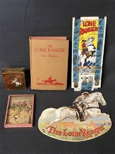 Vtg Lone Ranger Items - Cache Coin, Book,More - Serie 6