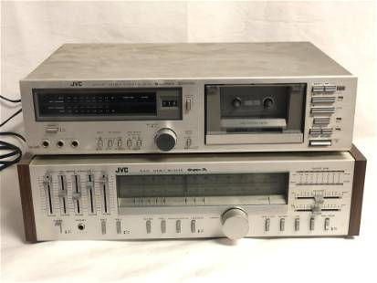 JVC R-S33 Super A Receiver + D35 Cassette - KD-D35