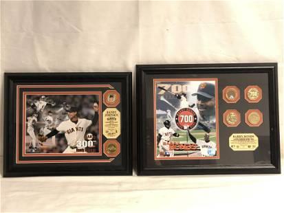 Barry Bonds & Randy Johnson Giants Plaques - Bonds