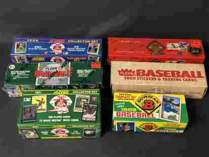 (6)Complete Set MLB Trading Cards - Some Factory Sealed