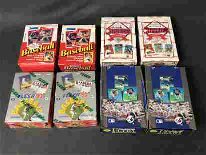 (8)Boxes Baseball Trading Cards, Some Sealed - (2)1993