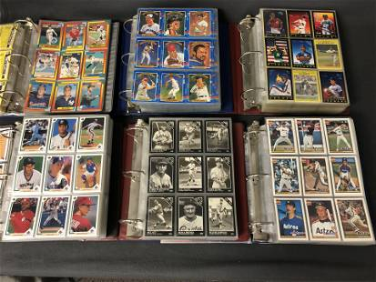 (6)Binders Loaded MLB Trading Cards - Complete or Near