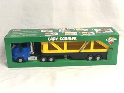 (11)Chevron Cars w/ Car Carrier, Original Boxes -
