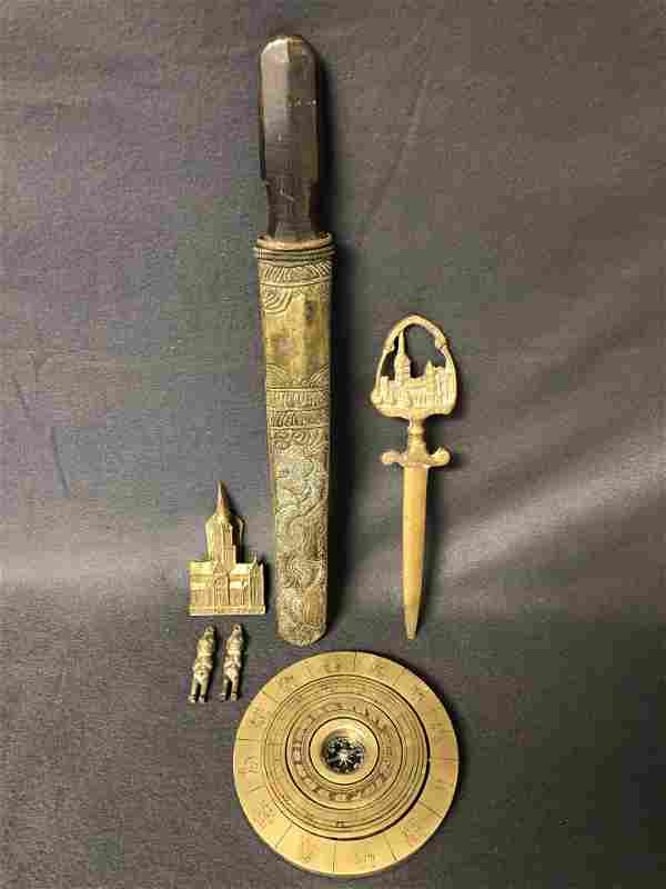 F.L.West Compass, Knife, Salisbury Items,More -