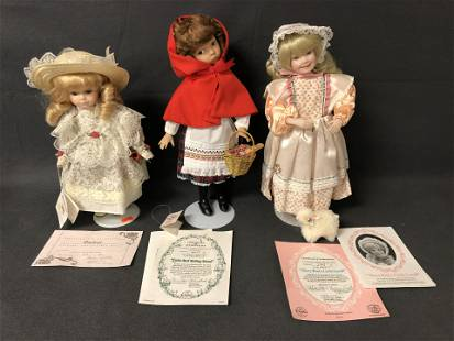 (3)Asst Dolls in Original Boxes, Bradley,More -