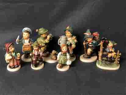 8 Asst Goebel Hummel Figures - Asst Sizes / Age , Some