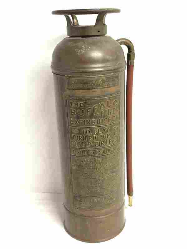 Vtg Copper Buffalo Fire Extinguisher - Converted to