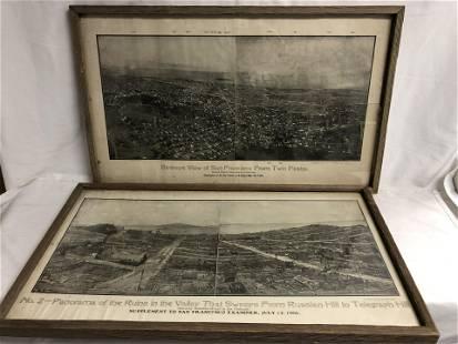 (2)1906 San Francisco Earthquake Prints - Examiner