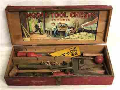 Mason & Parker Vtg Tool Chest w/ Tools