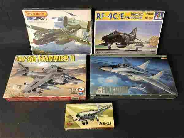 5 Asst Model Airplanes -New Old Stock - Matchbox B25H/J