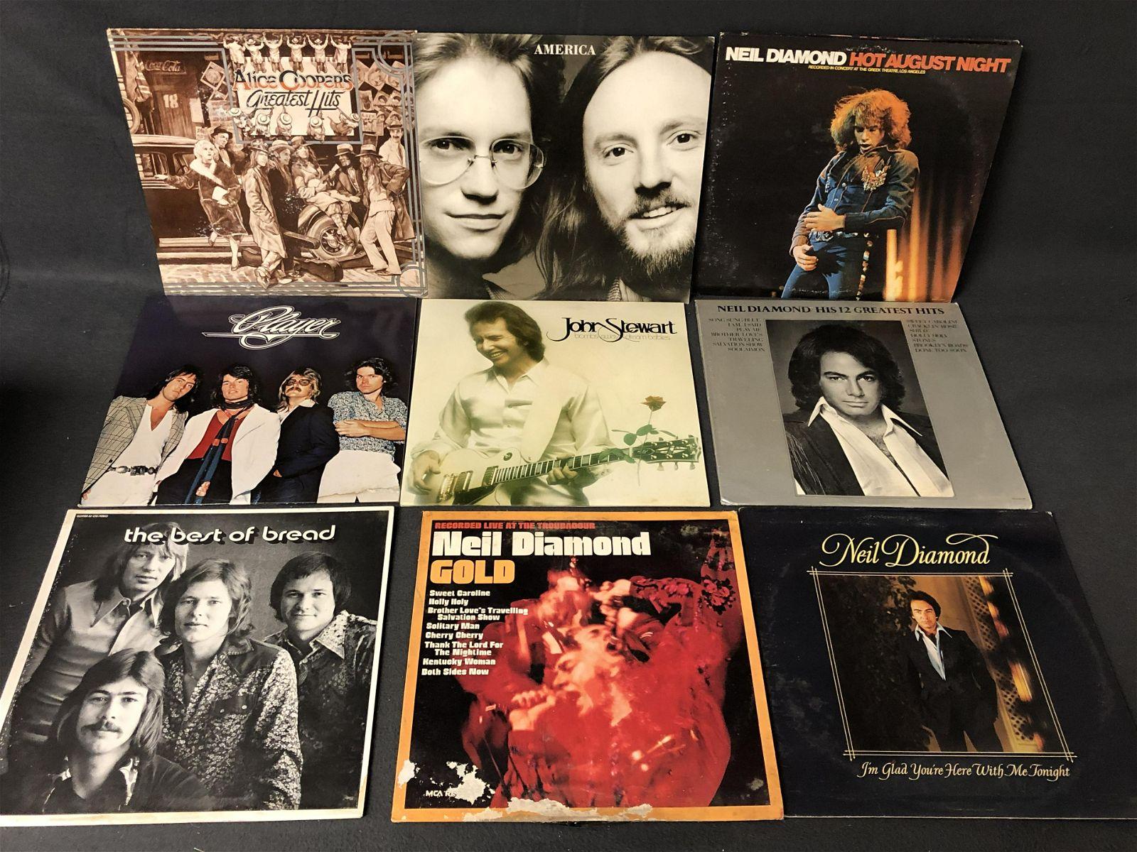 75+ Vtg 33 Vinyl Record Albums - Alice Cooper, America,