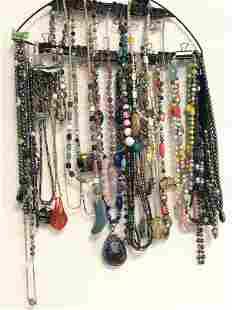 Asst 40pcs Jewelry Bracelets, Necklaces - Various