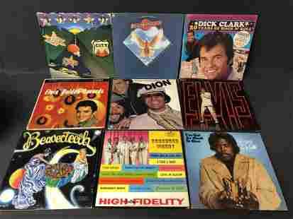 70+ Vtg 33 Vinyl LP Albums - Elvis, Frampton, Bay City,