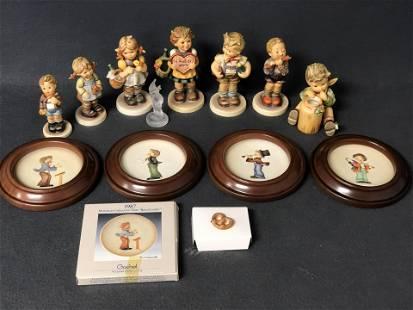 7 Asst Goebel Hummel Figures, Plaques - Exclusive &