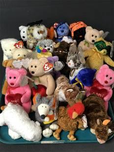 Asst Lot Beanie Babies -New Old Stock -