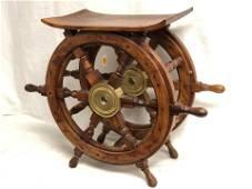 Nautical Ship Wheel Wine Holder - 24'' x 20''