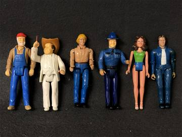 (6)1980-81 Dukes of Hazzard Action Figures