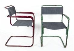 Breuer, Marcel: Zwei Armlehnstühle B34