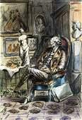 Zeichner um 1900 Der Kunstsammler