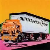 Warhol, Andy: Trucks (4 Ankuendigungskarten)