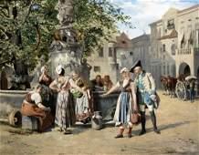 Hamza Johann Taendelei am Brunnen